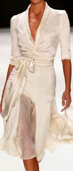 Silk wrap dress (not crazy about the see-thru, but overall lovely)