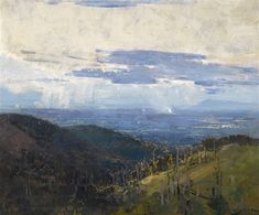 Melbourne from Afar, 1920 by Arthur Streeton on Curiator, the world's biggest collaborative art collection. Abstract Landscape, Landscape Paintings, Landscape Design, Oil Paintings, Australian Painting, Australian Artists, Digital Museum, Collaborative Art, View Image