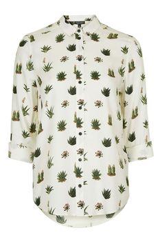 Cactus Print Long Sleeve Shirt