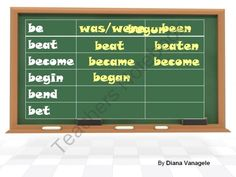 Irregular verbs interactive activity from Effective teaching aids on TeachersNotebook.com (21 pages)