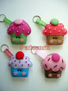 Cupcakes keyrings
