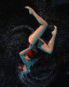 Russia compete during the Synchronized Swimming Free Combination Final on day eight of the 15th FINA World Championships at Palau Sant Jordi on July 27, 2013 in Barcelona, Spain.