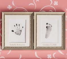 Silver Leaf Handprint & Footprint Frame | Pottery Barn Kids