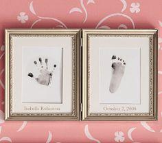 Silver Leaf Handprint & Footprint Frame | Pottery Barn Kids