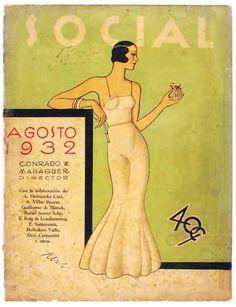 1932 Social Magazine (Cuba), illustrated by Conrado Massenguer. Vintage Cuba, Vintage Vogue, Vintage Ads, Vintage Posters, Vintage Photos, Vintage Graphic, Vintage Travel, Beach Illustration, Graphic Design Illustration