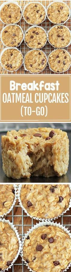 Cook just once, and you get breakfast for an entire month with these healthy baked oatmeal cupcakes!