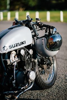 "scumbagcycles: "" www.throttleroll.com "" Suzuki Cafe Racer 