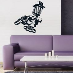 Wall Decal Art Decor Decals Sticker Bedroom Gangster Mafia Gun Microphone Weapons Brass Knuckles (M50) DecorWallDecals http://www.amazon.com/dp/B00FQA57FC/ref=cm_sw_r_pi_dp_lbOXub0SPXPT1