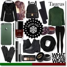 Snow Day - Taurus (polyvore on we heart it)