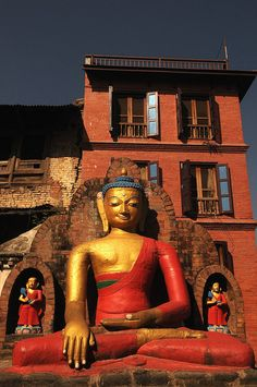 Suffering exists and all states of being are essentially unsatisfactory.  1st Noble Truth   [Buddha, Kathmandu, Nepal (by Tony Roberts)]