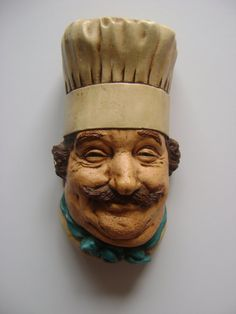 Vintage Chalkware Chef by HallesHouse on Etsy, $22.00