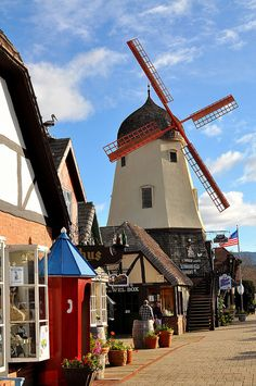Solvang~It's a charming little village with lots and lots of great pastry shops! dd
