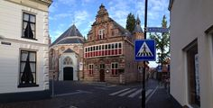 Havenstraat / Kerkstraat in Woerden with the former city hall (now museum)  - where we got married (a long time ago...)