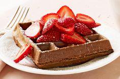 Chocolate Belgian Waffles recipe