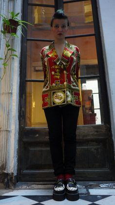 Stunning One of a Kind Jacket. Unisex 80's by TheBrokenClock