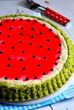 Very Delicious Watermelon Cake Recipe, Vegan Breakfast Recipes, Vegan Recipes Easy, Watermelon Cake Recipe, Melon Recipes, Vegan Crackers, Good Foods For Diabetics, Buttercream Cake, Food Cakes, Fruit Smoothies