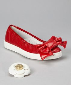 Look at this MUPS Red Carley Flat - Kids on #zulily today!