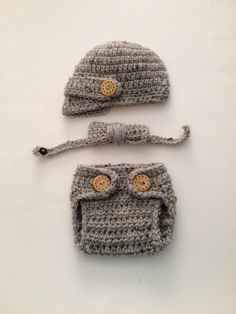 Crochet Baby Visor Hat Set Newborn Photo Prop Boys Item Coming Home Outfit Made to Order by ComfyCrochetBoutique on Etsy