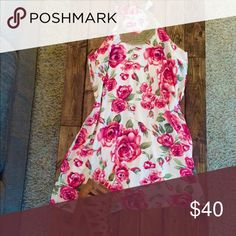 Floral dress Beautiful floral dress. Gorgeous neckline with vibrant pink flowers. Perfect dress for a summer wedding. ONLY WORN ONCE Missguided Dresses Mini