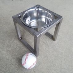 This handcrafted pet feeder elevates your pets food/water to a more comfortable level. It features 1 removable stainless steel bowl of 1 quart capacity. The frame is made from stainless steel, and is fully welded. Industrial Metal, Industrial Style, Drawer Handles, Door Handles, Steel Barns, Dog Bowl Stand, Stainless Steel Bowl, Pet Feeder, Desktop Organization