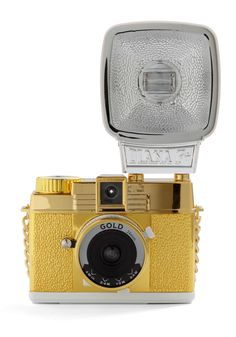 Diana Mini Gold Edition | Mod Retro Vintage Electronics | ModCloth.com | $130 functional 35mm cam