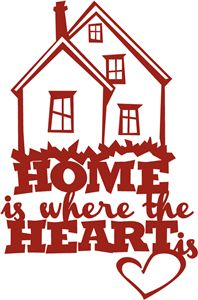 Silhouette Online Store - View Design #31219: home is where the heart is