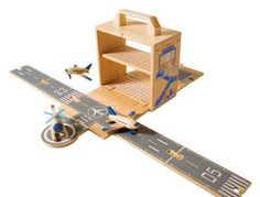 airplane, car and train box sets by diggin - love toys that come with their own box to store them in!