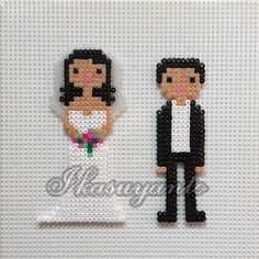 Wedding hama mini beads by ikasuyanto: