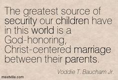 voddie baucham, caesar education | Voddie T. Baucham Jr. : The greatest source of security our children ...