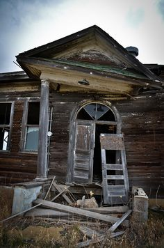 Abandoned schoolhouse in Gascoyne, North Dakota