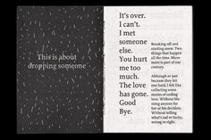 Off is a zine about dropping someone. by Kristina Wedel