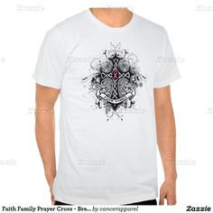 Faith Family Prayer Cross - Breast Cancer T Shirt