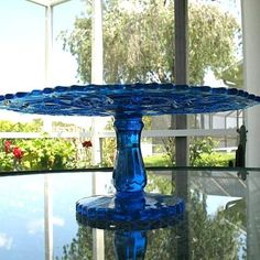 Imperial Blue NuCut 402-1/2 Fashion 13 in. Cake Stand from pastwareslane on Ruby Lane