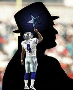 That's right Dak keep your head up! Touch the star because you are one. You are our future franchise quarterback for the foreseeable future. Dallas Cowboys History, Cowboy History, Dallas Cowboys Decor, Dallas Cowboys Wallpaper, Dallas Cowboys Players, Dallas Cowboys Pictures, Cowboys Memes, Cowboys 4, Football Players