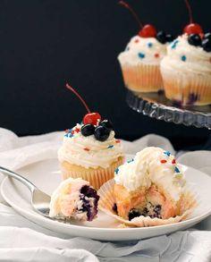 Gluten Free Red, White & Blueberry Cupcakes | Gluten Free Recipes | Simply Gluten Free