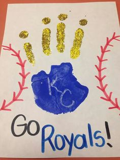 Kansas City Royals handprint