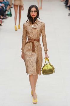 Burberry Spring 2013 lace textured trench