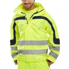 Beeswift Hi-Vis Eton Breathable Jacket Saturn Yellow