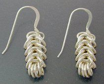Free chainmaille pattern: Simple Boxchain Earrings
