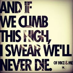My Understandings - Of Mice & Men   One of the first songs I heard by them.