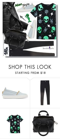 """""""Alien Style #19: Beautifulhalo.com"""" by chocolate-addicted-angel ❤ liked on Polyvore featuring Giuseppe Zanotti, Givenchy, women's clothing, women's fashion, women, female, woman, misses and juniors"""