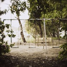 Vintage Swing Set. Would love to find vintage playground equipment for our yard.