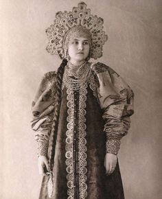 Traditional Russian Costume, Arkhangelsk Oblast. 1890
