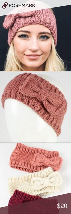 9e4495a7475 Shop Women s size OS Hair Accessories at a discounted price at Poshmark.  Description  💗🖤HOST PICK🖤💗 Cute warm headband with bow detail.