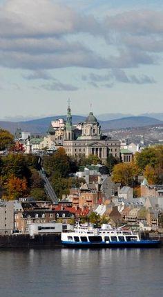 Quebec, la Capitale nationale de l'État du Québec, fondée en 1608 par Samuel de Champlain.   408 ans d'existence. Samuel De Champlain, Lac Champlain, Le Petit Champlain, O Canada, Canada Travel, Beautiful World, Beautiful Places, Chute Montmorency, Chateau Frontenac