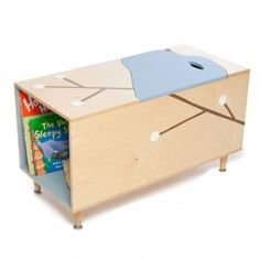 The Maude Toy Box with Book Cubby