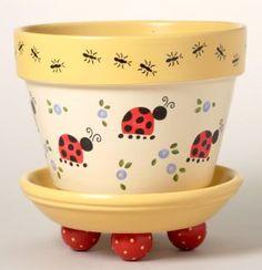 173 Elizabeth's Garden Flower Pot Stencil is part of garden Crafts Pots - 2 Sections, 12 Overlays Flower Pot Art, Flower Pot Design, Clay Flower Pots, Flower Pot Crafts, Cactus Flower, Flower Pot People, Clay Pot People, Clay Pot Projects, Clay Pot Crafts