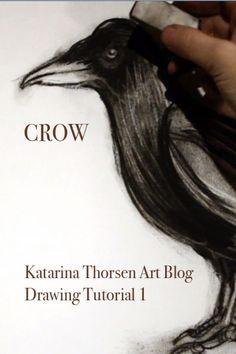 Drawing tutorial .  #KatarinaThorsen   #Crow   #Raven