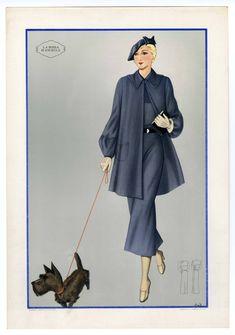 1921-1940, Plate 048. Metropolitan Museum of Art (New York, N.Y.).  Costume Institute. Fashion plates, 1700-1955. Costume Institute Fashion Plates. #fashion