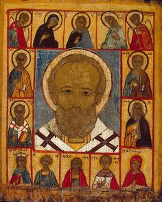 Icon: St Nicholas with a Deesis and Selected Saints